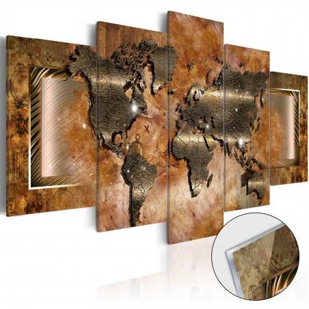 Quadri su vetro acrilico - Steel Map [Glass] - Quadri e decorazioni