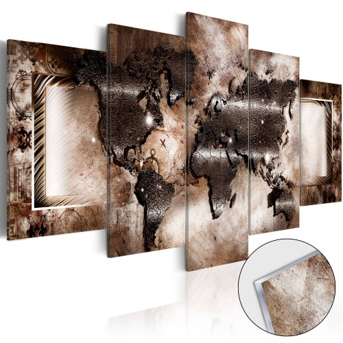Quadri su vetro acrilico - Platinum Map [Glass] - Quadri e decorazioni