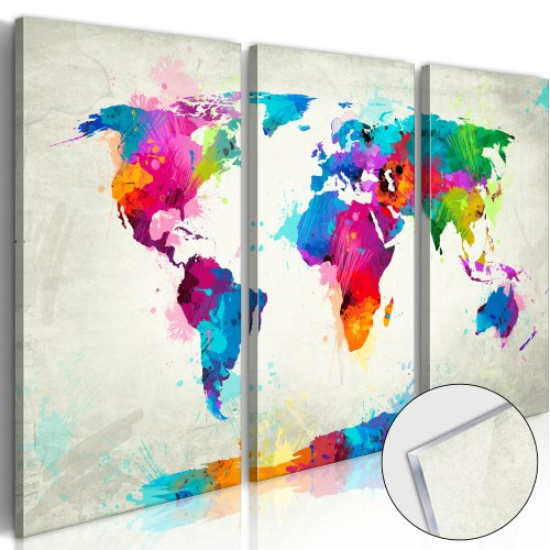 Quadri su vetro acrilico - World Map: An Explosion of Colours [Glass] - Quadri e decorazioni
