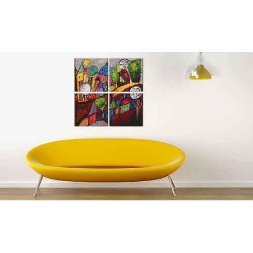 Quadro - Cittadina colorata - Quadri e decorazioni