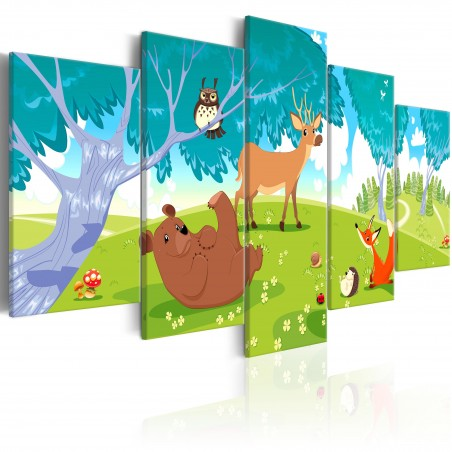 Quadro - Friendly Animals (5 Parts) - Quadri e decorazioni
