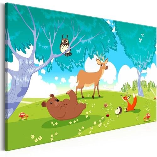 Quadro - Friendly Animals (1 Part) Wide - Quadri e decorazioni