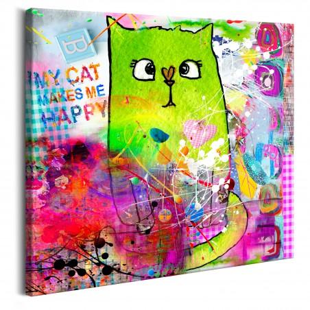 Quadro - Crazy Cat - Quadri e decorazioni