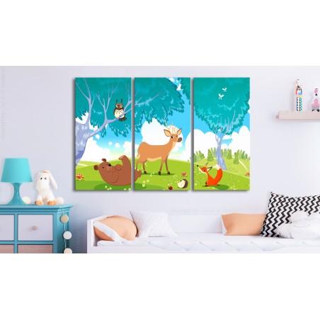 Quadro - Friendly Animals (3 Parts) - Quadri e decorazioni