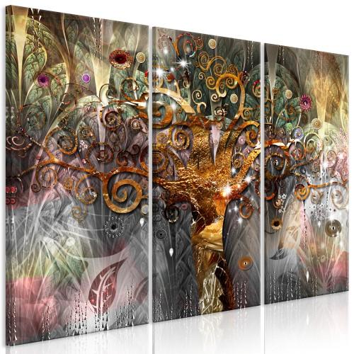 Quadro - Golden Tree (3 Parts) - Quadri e decorazioni