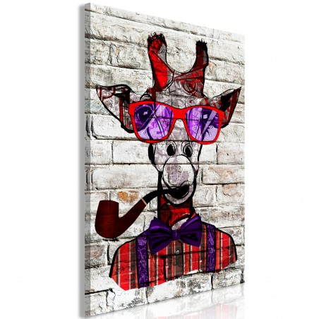 Quadro - Hipster Giraffe (1 Part) Vertical - Quadri e decorazioni