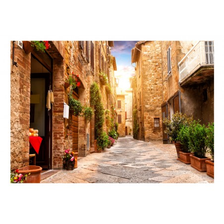Fotomurale - Colourful Street in Tuscany - Quadri e decorazioni