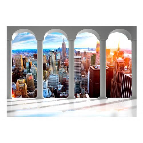 Fotomurale - Pillars and New York - Quadri e decorazioni