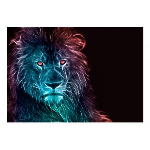 Fotomurale - Abstract lion - rainbow - Quadri e decorazioni