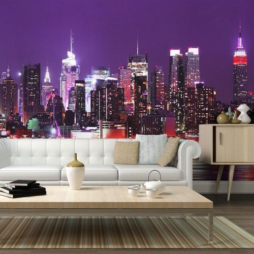 Fotomurale - Arcobaleno di luci: New York - Quadri e decorazioni