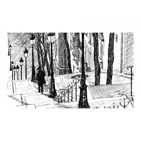 Fotomurale - scale - Montmartre - Quadri e decorazioni