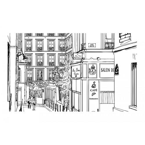 Fotomurale - Passeggiata per le vie di Parigi - Quadri e decorazioni