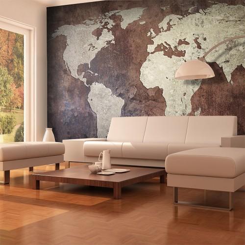 Fotomurale - Continenti di ferro - Quadri e decorazioni