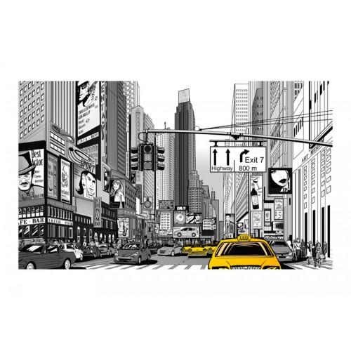 Fotomurale - Taxi gialli di New York - Quadri e decorazioni