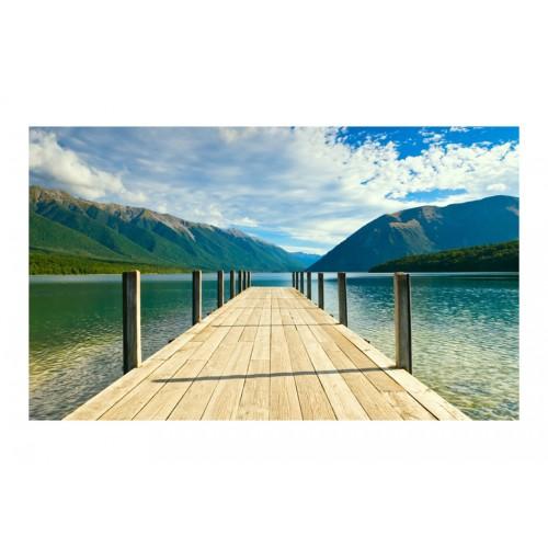 Fotomurale - Pontile sul lago tra le montagne - Quadri e decorazioni