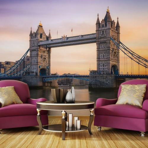 Fotomurale - Alba sopra la Tower Bridge - Quadri e decorazioni