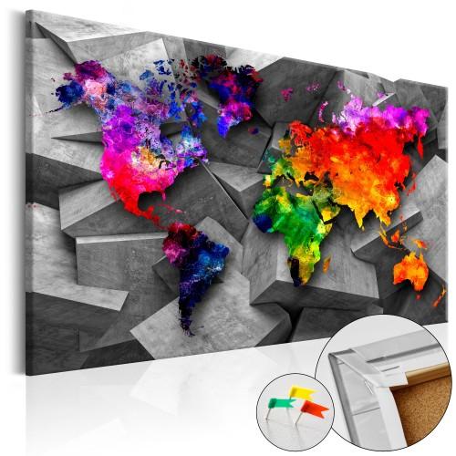 Quadri di sughero - Cubic World [Cork Map] - Quadri e decorazioni