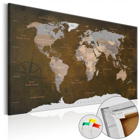 Quadri di sughero - Cinnamon Travels [Cork Map] - Quadri e decorazioni