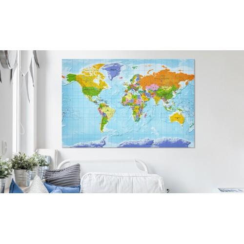 Quadri di sughero - World Map: Countries Flags [Cork Map] - Quadri e decorazioni