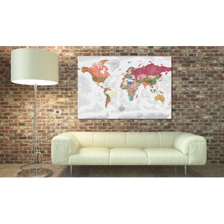 Quadri di sughero - Travel Around the World [Cork Map] - Quadri e decorazioni