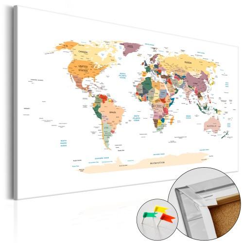 Quadri di sughero - World Map [Cork Map] - Quadri e decorazioni