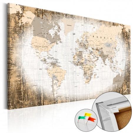 Quadri di sughero - Enclave of the World [Cork Map] - Quadri e decorazioni