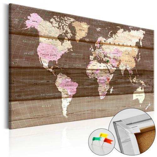 Quadri di sughero - Wooden World [Cork Map] - Quadri e decorazioni
