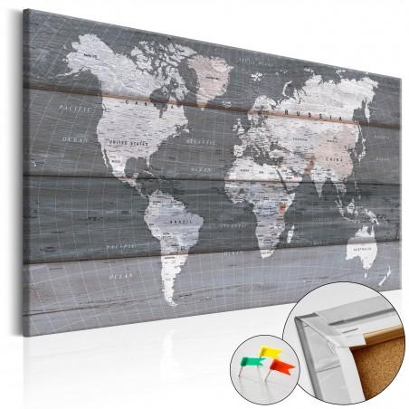 Quadri di sughero - Grey Earth [Cork Map] - Quadri e decorazioni