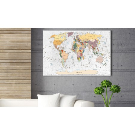 Quadri di sughero - World's Walls [Cork Map] - Quadri e decorazioni