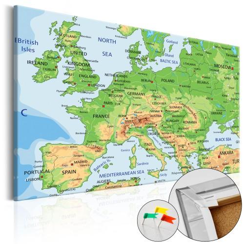 Quadri di sughero - Europe [Cork Map] - Quadri e decorazioni