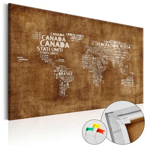 Quadri di sughero - The Lost Map [Cork Map - Italian Text] - Quadri e decorazioni