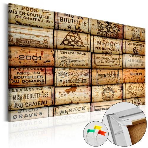 Quadri di sughero - Vineyard of Memories [Cork Map] - Quadri e decorazioni