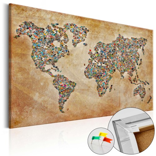 Quadri di sughero - Postcards from the World [Cork Map] - Quadri e decorazioni