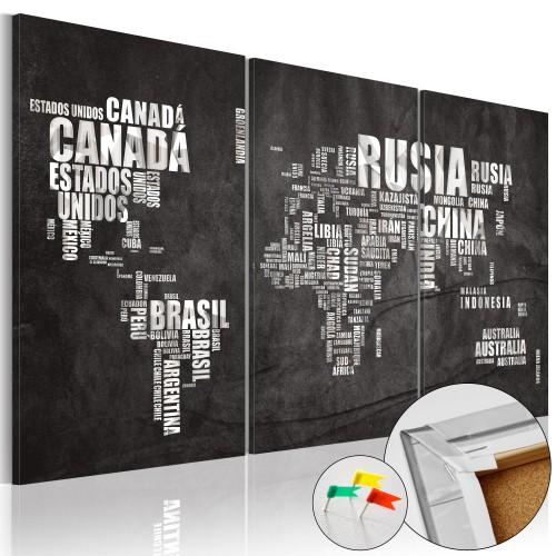 Quadri di sughero - El Mundo [Cork Map] - Quadri e decorazioni