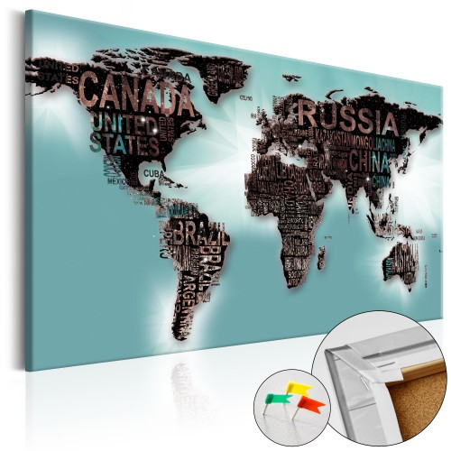 Quadri di sughero - Subtlety of the World [Cork Map] - Quadri e decorazioni