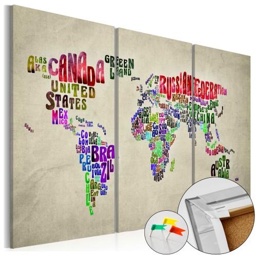 Quadri di sughero - Colorful Countries [Cork Map] - Quadri e decorazioni