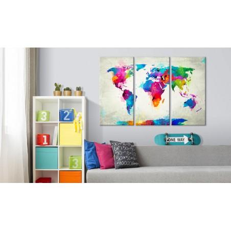 Quadri di sughero - Colourful Expression [Cork Map] - Quadri e decorazioni