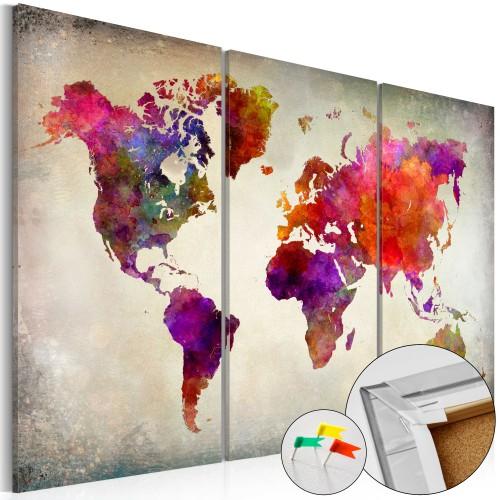 Quadri di sughero - Mosaic of Colours [Cork Map] - Quadri e decorazioni