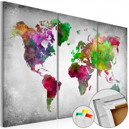 Quadri di sughero - Diversity of World [Cork Map] - Quadri e decorazioni