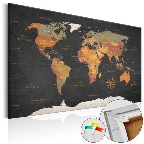 Quadri di sughero - Secrets of the Earth [Cork Map] - Quadri e decorazioni
