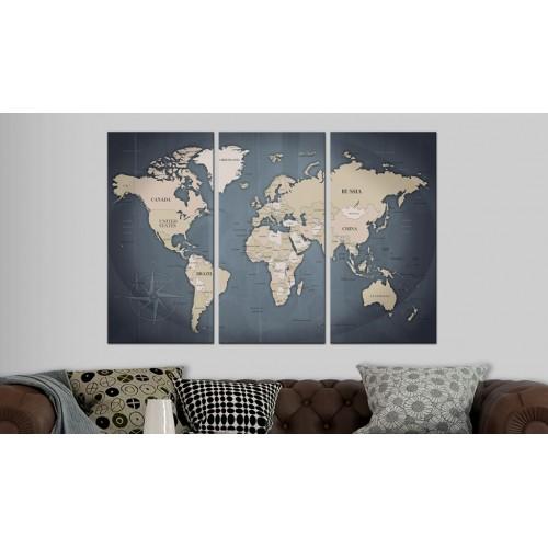 Quadri di sughero - Anthracitic World [Cork Map] - Quadri e decorazioni