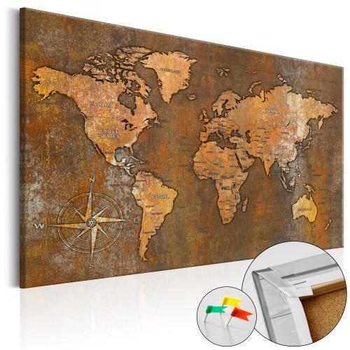 Quadri di sughero - Rusty World [Cork Map] - Quadri e decorazioni