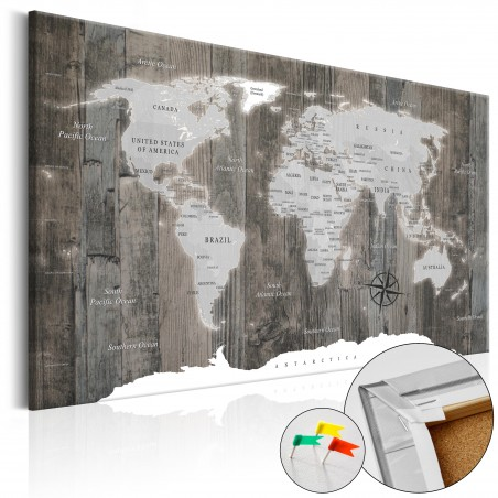 Quadri di sughero - World of Wood [Cork Map] - Quadri e decorazioni