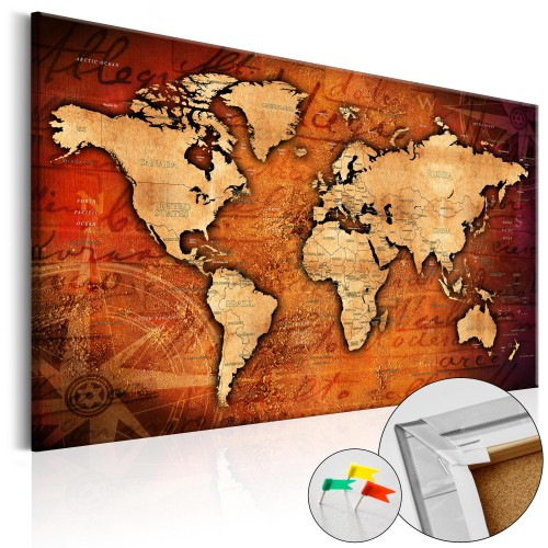 Quadri di sughero - Amber World [Cork Map] - Quadri e decorazioni