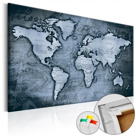 Quadri di sughero - Sapphire World [Cork Map] - Quadri e decorazioni