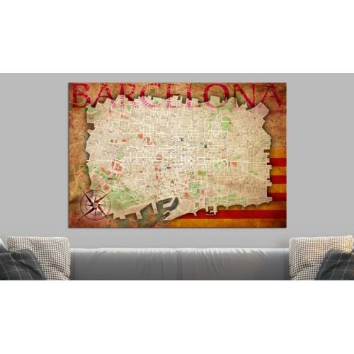 Quadri di sughero - Map of Barcelona [Cork Map] - Quadri e decorazioni