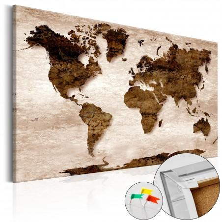 Quadri di sughero - The Brown Earth [Cork Map] - Quadri e decorazioni