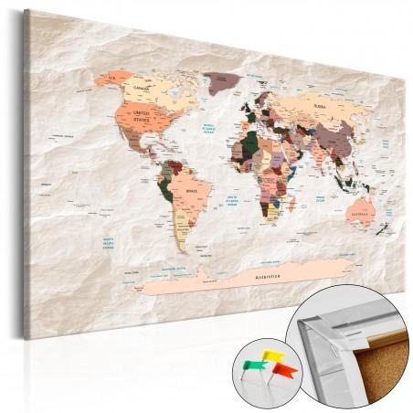 Quadri di sughero - Mappa in sughero: oceani di pietra - Quadri e decorazioni