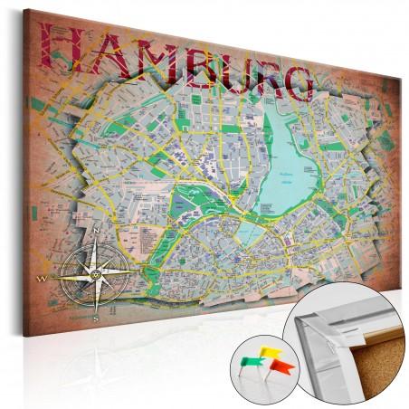 Quadri di sughero - Hamburg [Cork Map] - Quadri e decorazioni