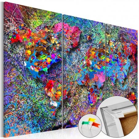 Quadri di sughero - Colourful Whirl [Cork Map] - Quadri e decorazioni